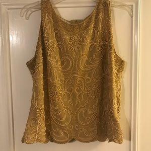 Tops - Jkara Sequin Gold Top